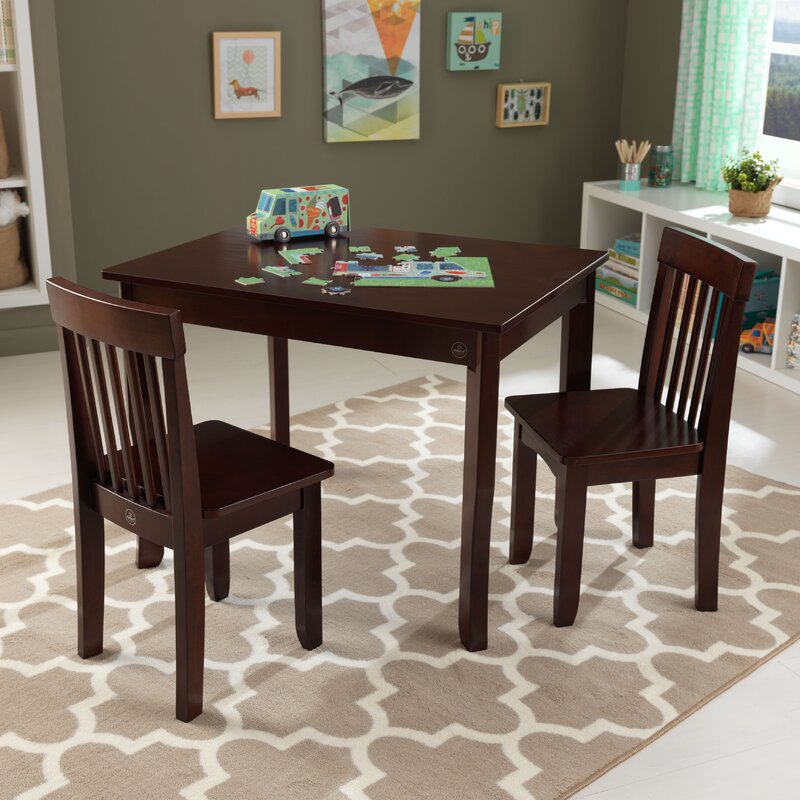 Table And Chairs Sets: KidKraft Avalon Kids 3 Piece Rectangular Table And Chair