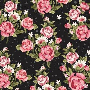 Rose wallpaper black wayfair roses on black removable 5 x 20 floral wallpaper mightylinksfo