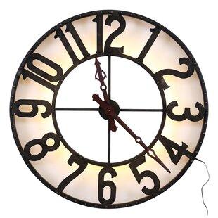 Light up wall clock wayfair oversized arlette light up 104cm wall clock aloadofball Images