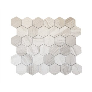 Hex Honeycomb 3 X Mosaic Tile In Wooden White
