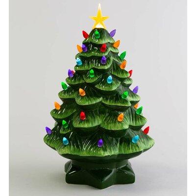 Plow & Hearth Lighted Ceramic Christmas Tree & Reviews | Wayfair