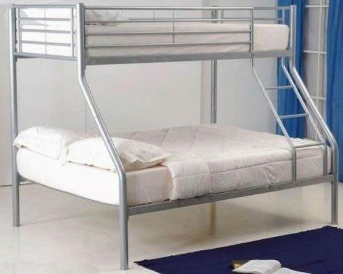 M H Designs Cherry Triple Sleeper Bunk Bed With Mattress Wayfair Co Uk