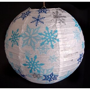 Snowflake Christmas Holiday Paper Lantern & Christmas Paper Plates   Wayfair