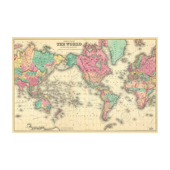 Swag paper colourful world map wall mural wayfair colourful world map wall mural gumiabroncs Image collections
