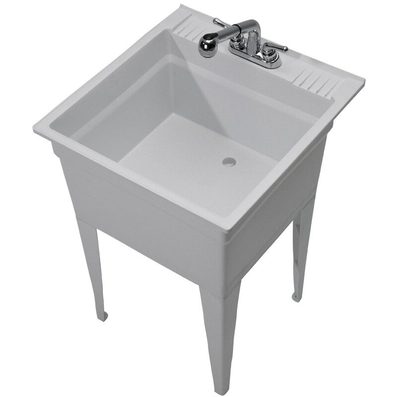 Heavy Duty 23 75 X 24 Freestanding Laundry Sink With Faucet