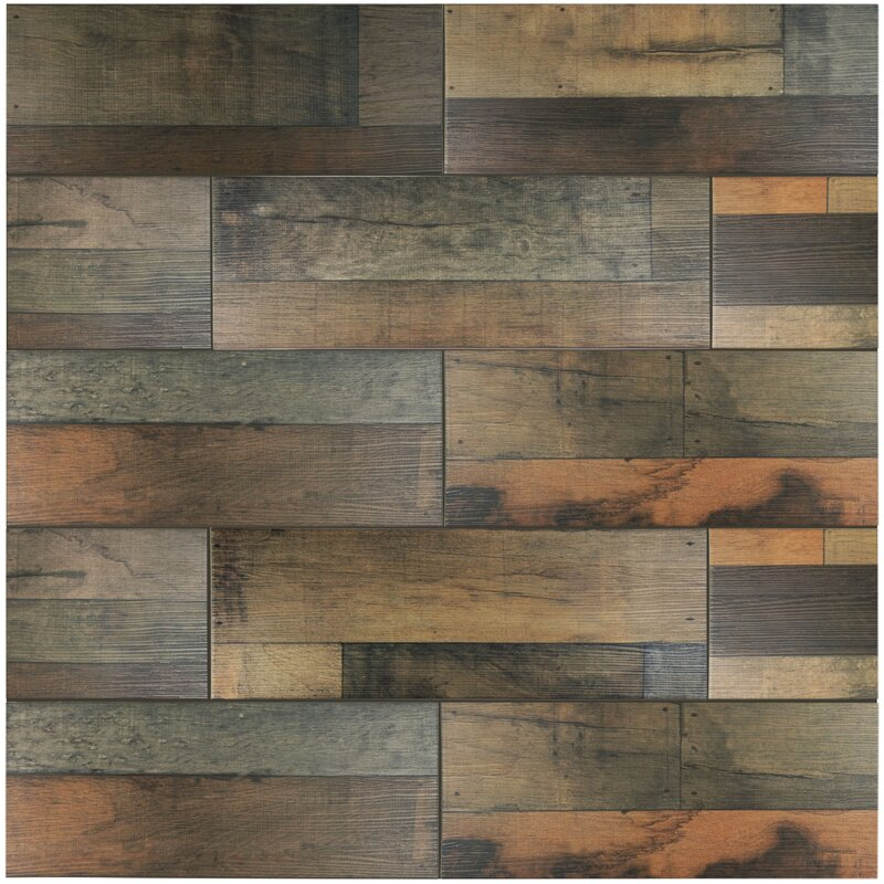 Elitetile Lena 788 X 2363 Ceramic Wood Tile In Mix Reviews