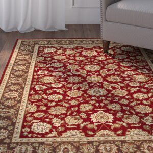 Troxell Red Area Rug