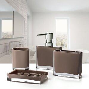 small 4 piece bathroom. Iced 4 Piece Bathroom Accessory Set Brown Accessories You ll Love  Wayfair