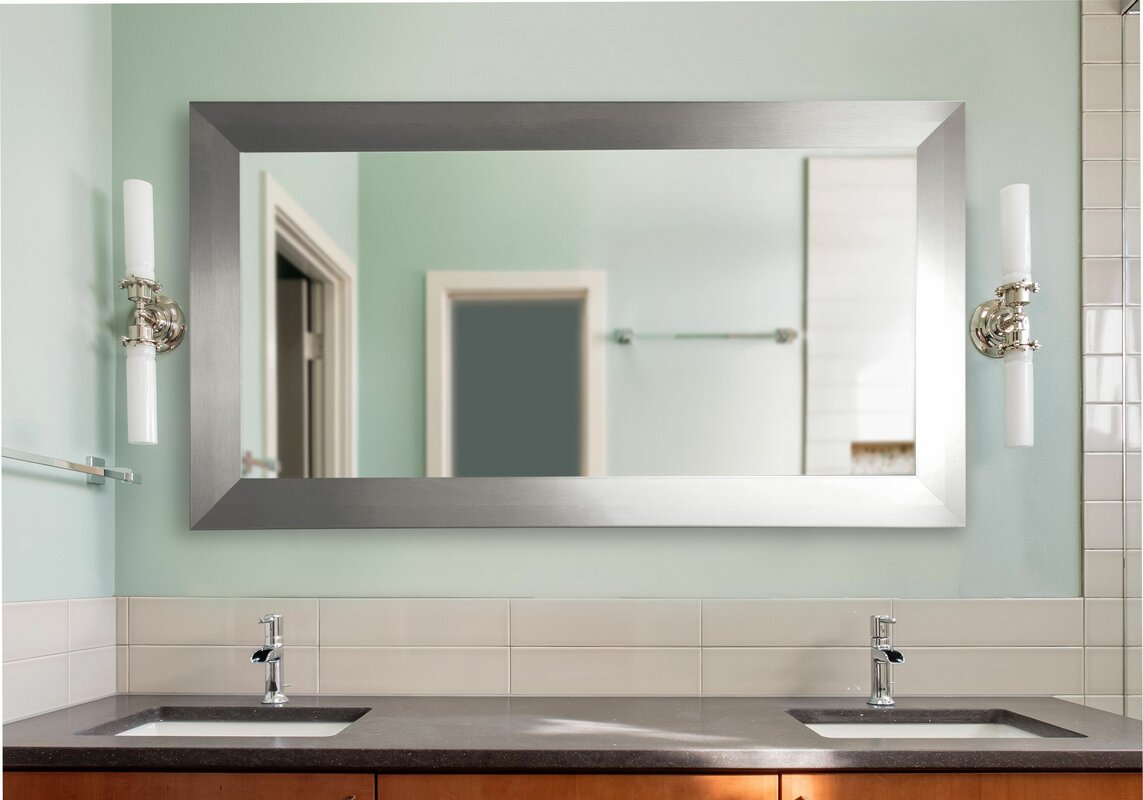 Bathroom Mirrors Double Wide rayne mirrors double wide vanity wall mirror    reviews   wayfair. Delectable 10  Bathroom Mirrors Double Wide Decorating Design Of