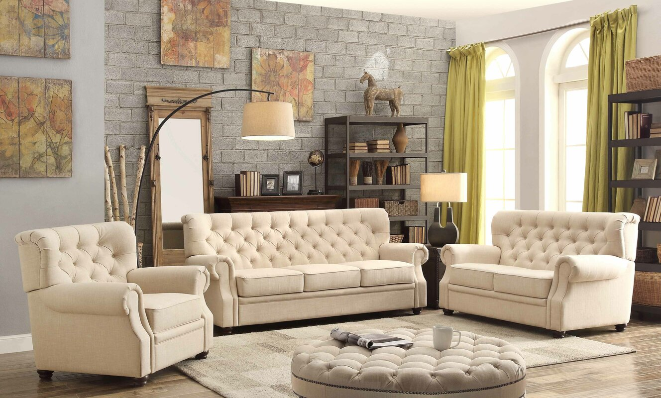 Good Ventura 3 Piece Living Room Set