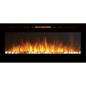 Fellman Pebble Stone Wall Mount Electric Fireplace by Varick Gallery