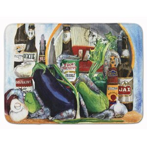 Donnellan Eggplant and New Orleans Beers Memory Foam Bath Rug