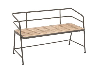 Cool Laurel Foundry Modern Farmhouse Idell Metal And Wood Bench Dailytribune Chair Design For Home Dailytribuneorg