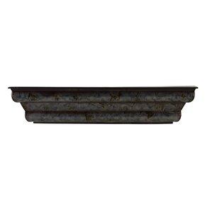 shimmer metal wall shelf