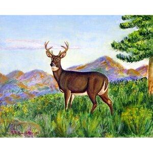 Deer in Mountains Doormat
