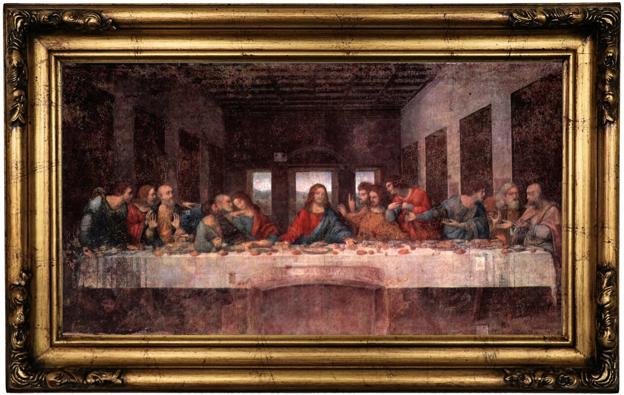 The Lord S Supper Gold Framed Oil Painting