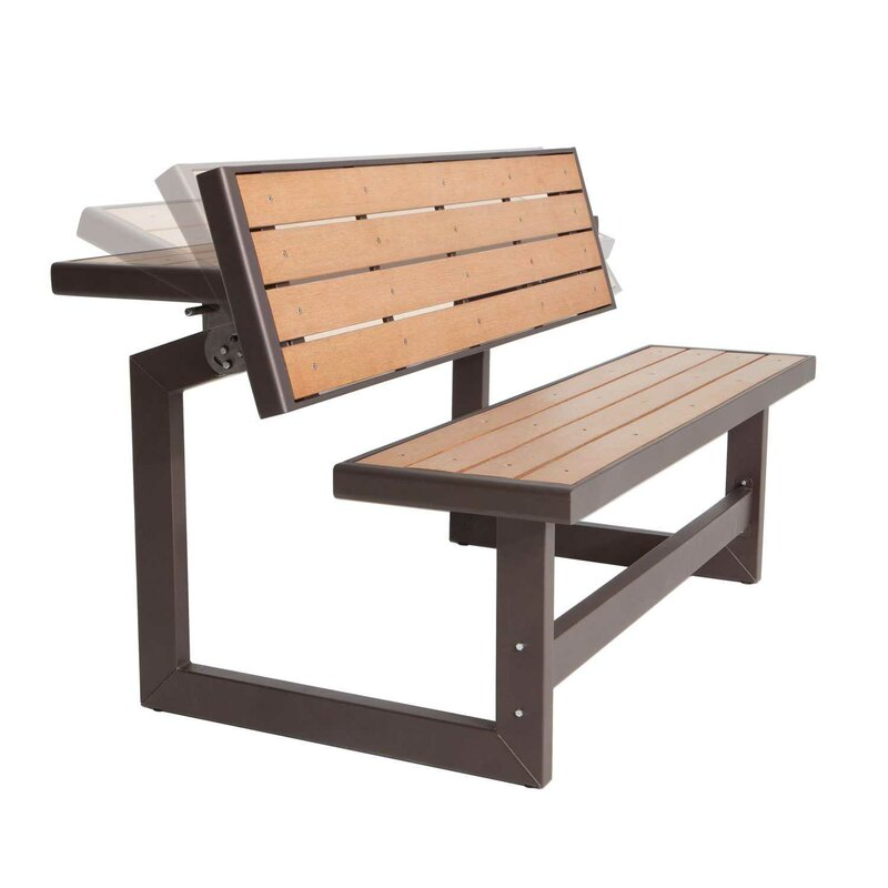 Lifetime Convertible Wood Park Bench Reviews Wayfair - Park bench and table