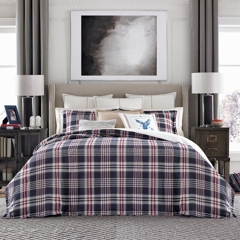 Tommy Hilfiger Wallingford Plaid 100 Cotton Comforter Set Wayfair Ca
