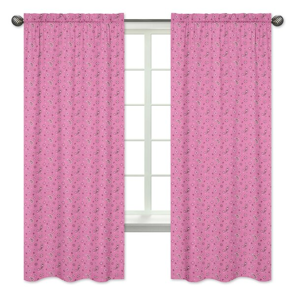 Sweet Jojo Designs Cowgirl Bandana Window Curtain Panels