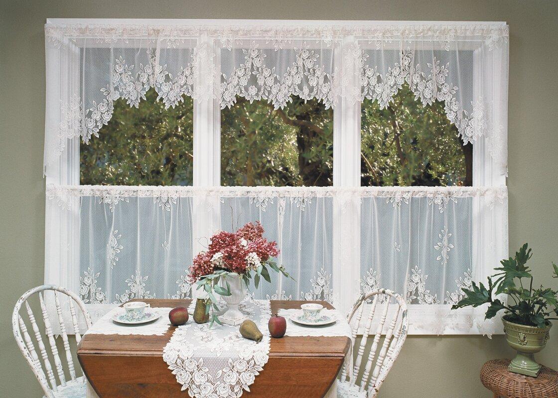 Tea Rose Tier Curtain