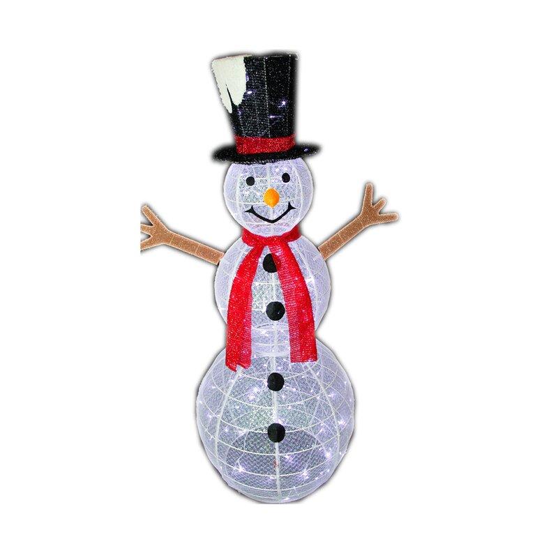 christmas pre lit led lighted snowman freestanding lighted display - Free Standing Christmas Decorations