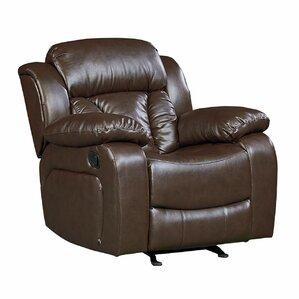 delaney faux leather rocker recliner - Leather Rocker Recliner