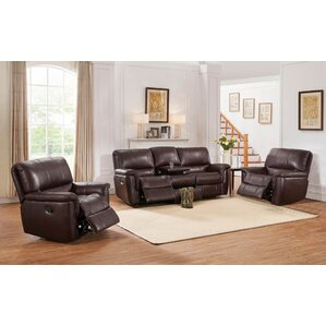 Deverell 3 Piece Leather Recli..