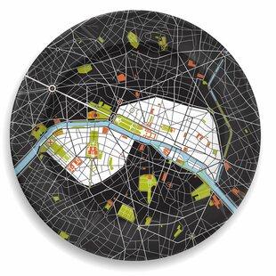 City On A Plate 12  Paris Dinner Plate  sc 1 st  Wayfair & Paris Plates | Wayfair