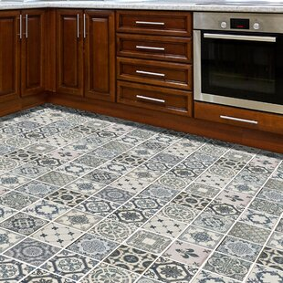 Wall 120x60 cm Mosaic Tile in Grey/Green by World Menagerie