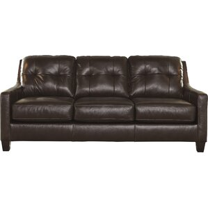 Red Barrel Studio Stouffer Leather Sleeper Sofa