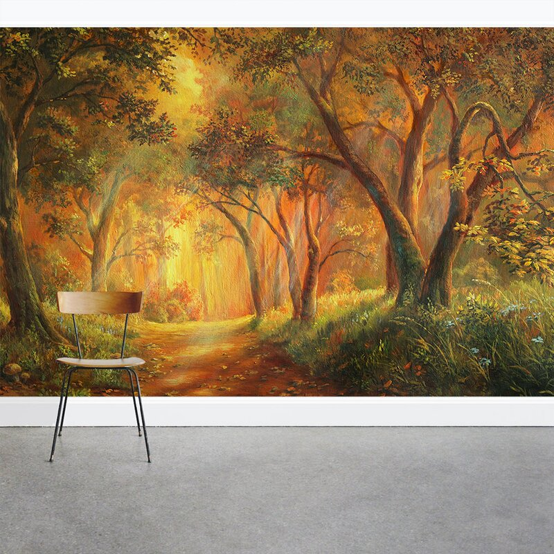 Wallums Wall Decor Illustrated Enchanted Forest Wall 8 X 144 3