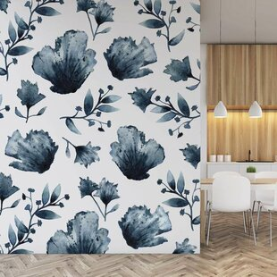 b9b2f09a1 Water and Ink Florals Wall Decal