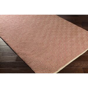 Waverly Hand-Woven Neutral/Red Area Rug