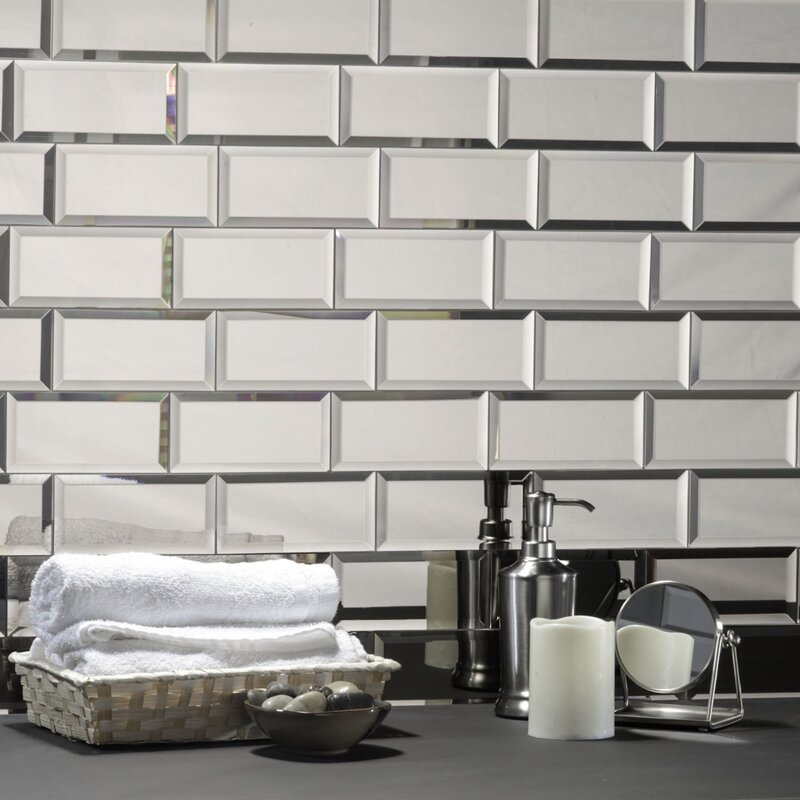 Abolos Reflections 3 Quot X 6 Quot Mirror Glass Subway Tile In
