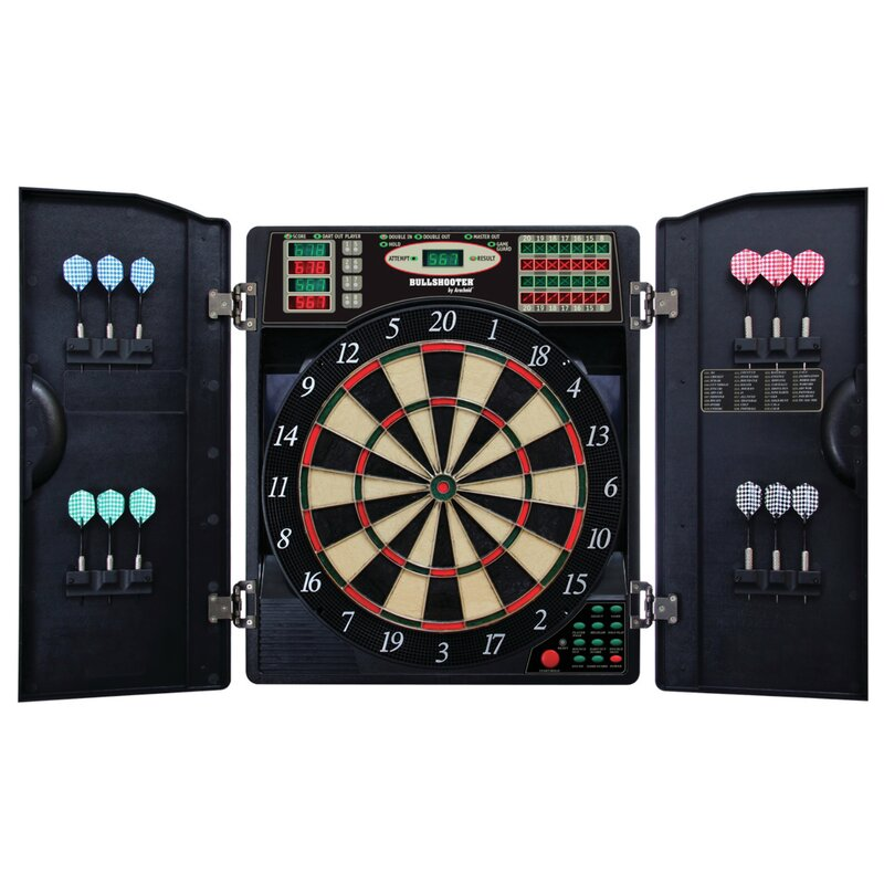 Arachnid E-Bristle 3 Piece 1000 LED Electronic Dartboard Cabinet ...