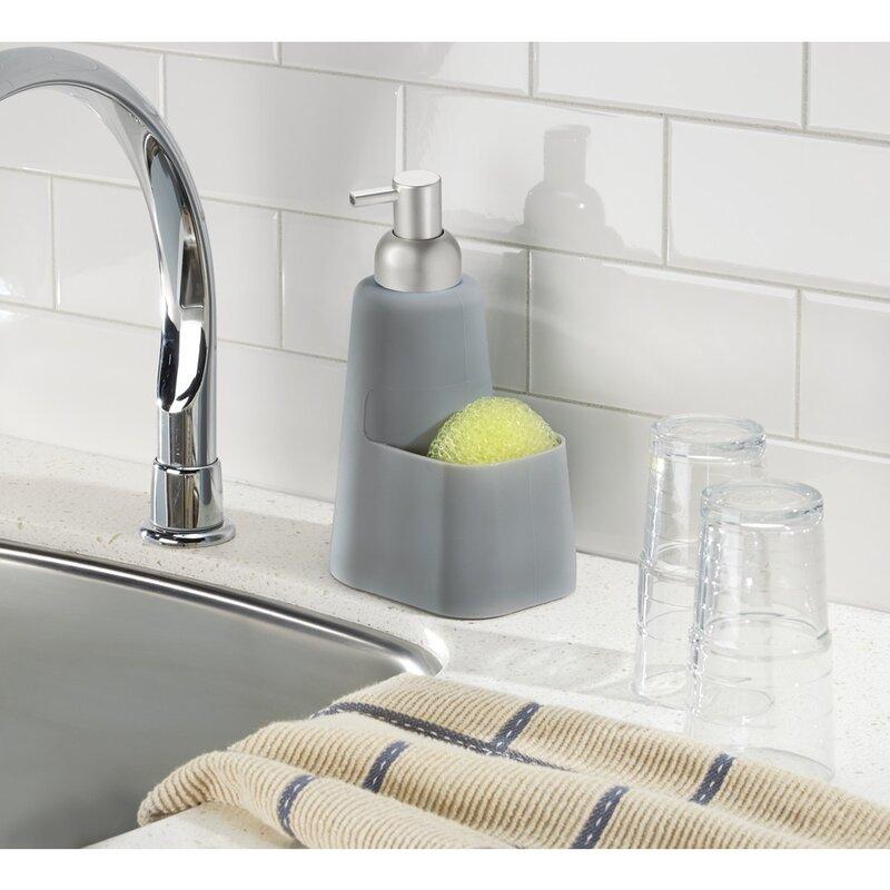 InterDesign Lineo Soap Dispenser Pump and Sponge Caddy   Wayfair