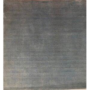 Metro-Velvet, Bamboo Silk, Blue (3' Square) Rug
