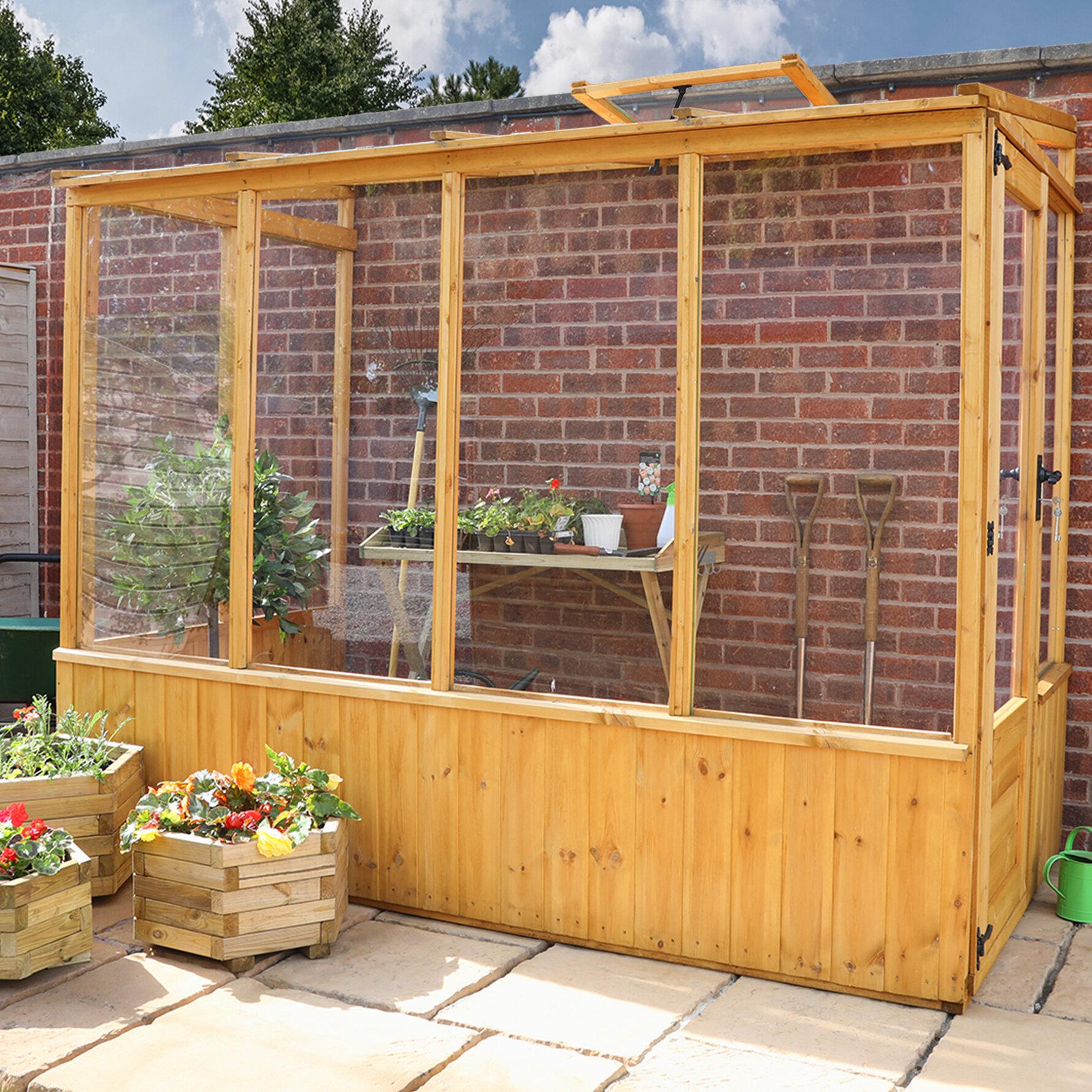 Mercia Garden Products Premium 4 Ft. W x 8 Ft. D Pent Mini ...