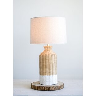 Wicker lamp wayfair choy wicker 27 table lamp aloadofball Image collections