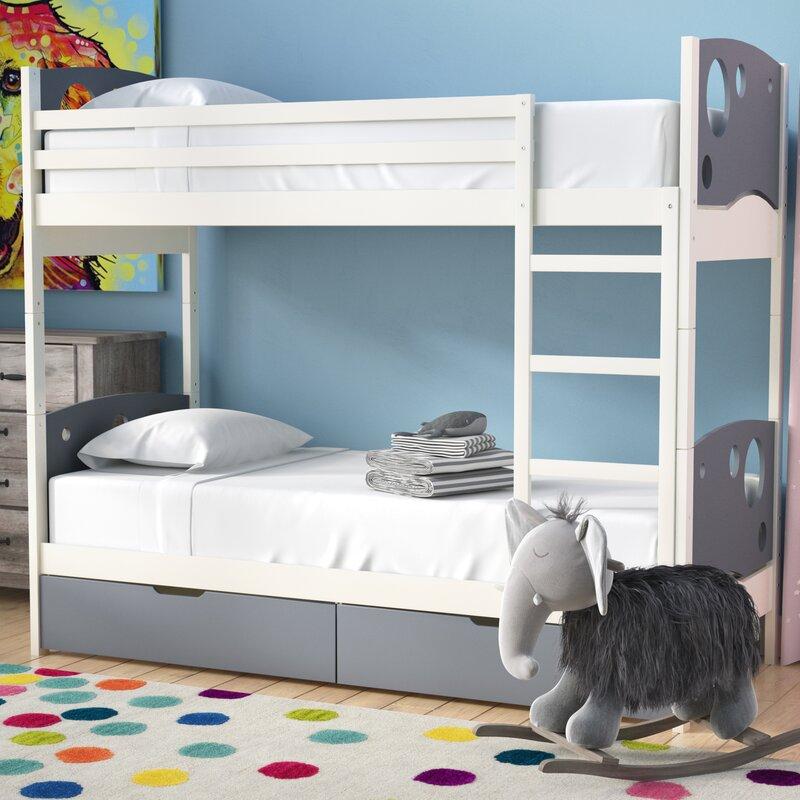 Mack Milo Zarke Panel Toddler Bunk Bed Wayfair