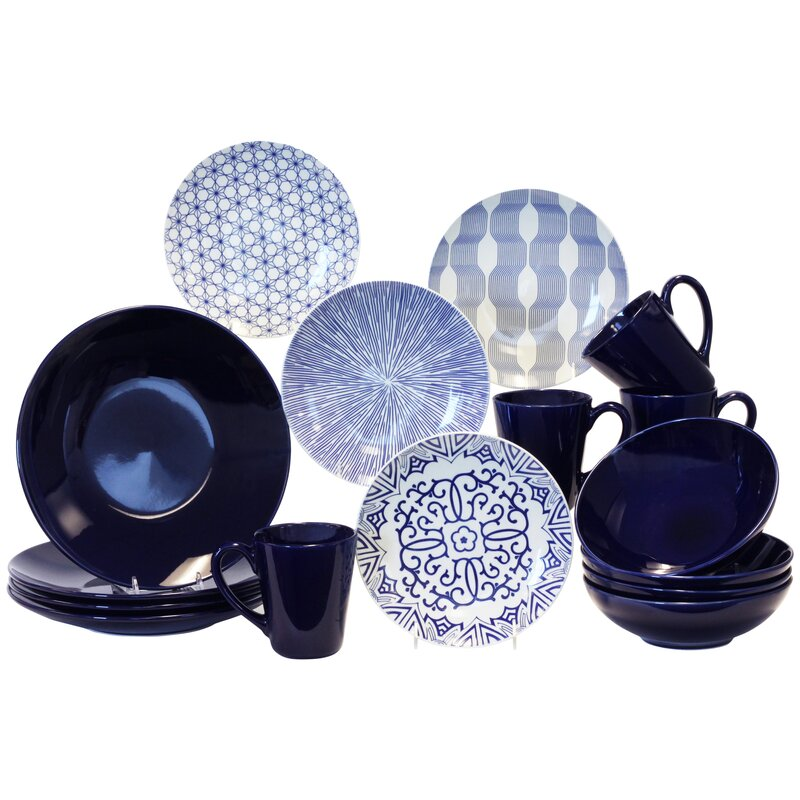 16 Piece Dinnerware Set Service for 4  sc 1 st  Wayfair : dinnerware 16 piece - pezcame.com
