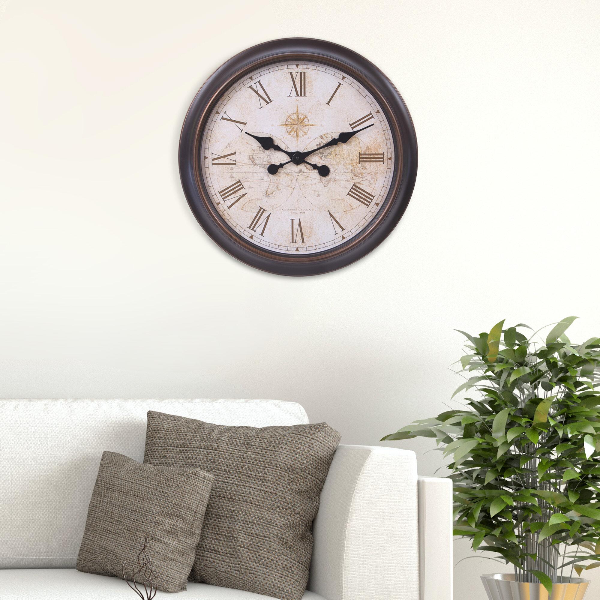 Charlton Home Oversized Schaefferstown World Map Wall Clock Wayfair
