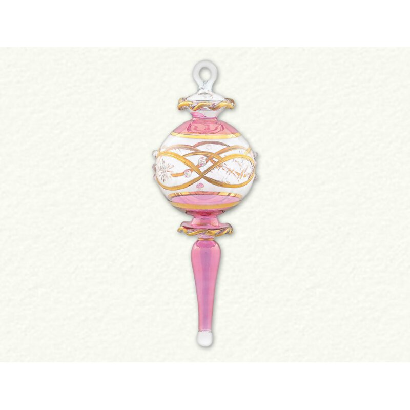 Etched Ball Finial Ornament