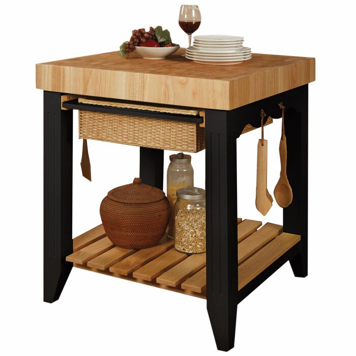 Butcher Block Kitchen Prep Table : Red Barrel Studio Behling Prep Table with Butcher Block Top & Reviews Wayfair