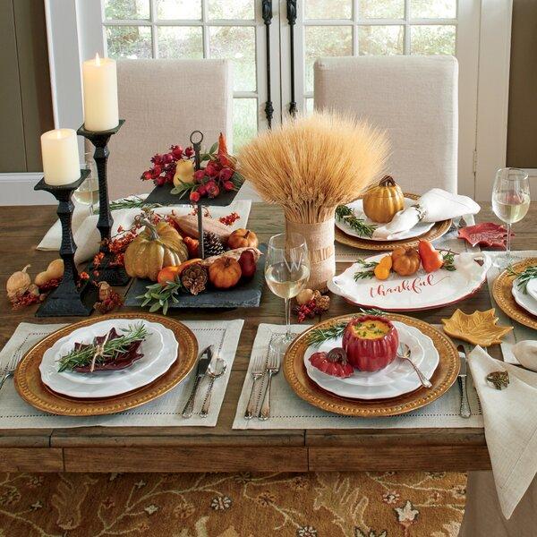 Thanksgiving Dinnerware Table Decor