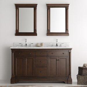 Kingston 60″ Double Sink Bathroom Vanity Set with Mirror
