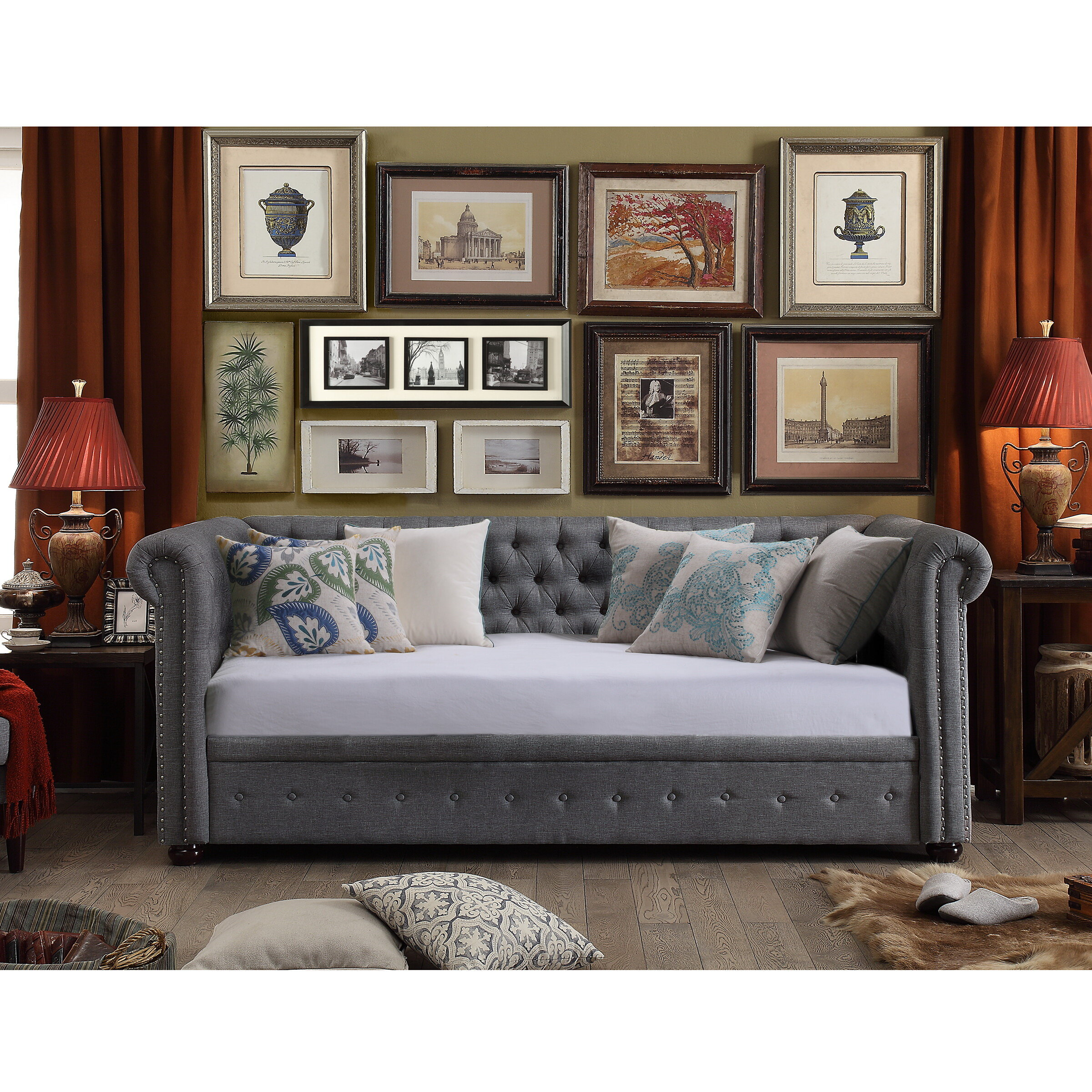 house of hampton bannruod chesterfield daybed reviews wayfair