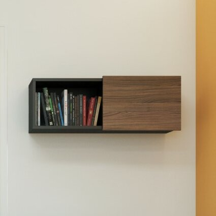 Darla Wall Shelf With Sliding Door