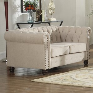 Alcott Hill Altman Fabric Modern Living Room Loveseat