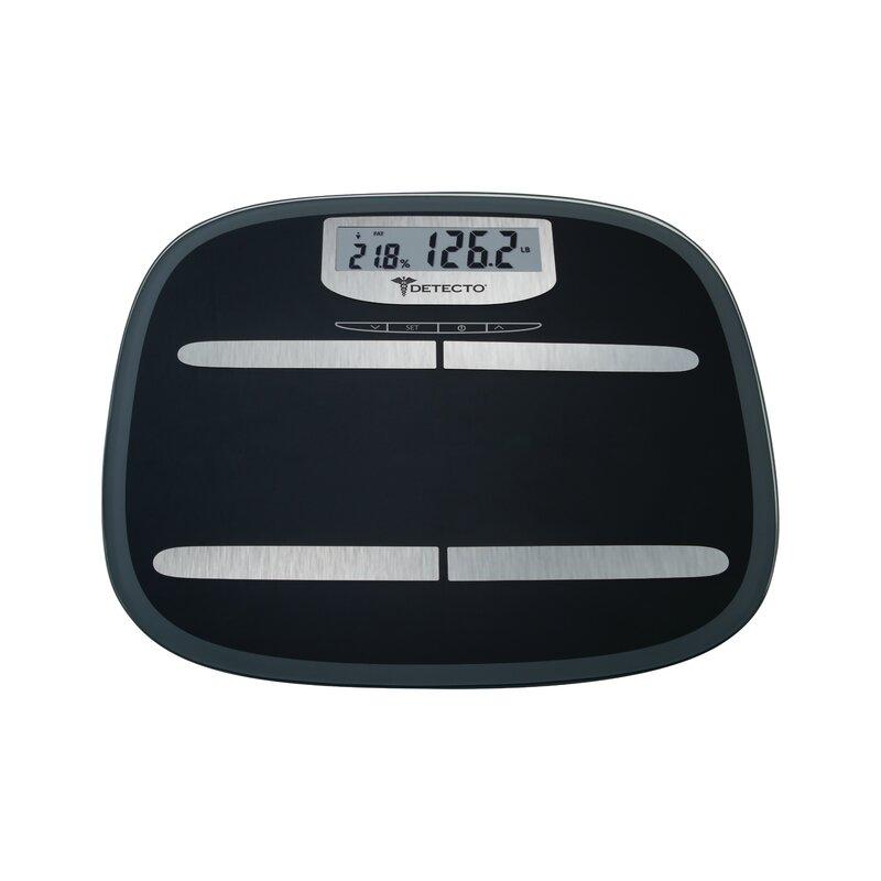 ab61ebe59c9a Escali Detecto Wide Platform Glass Digital Body Fat Scale